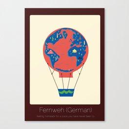 Found in Translation - Fernweh Canvas Print