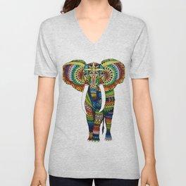 Rainbow Elephant Unisex V-Neck