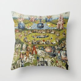 THE GARDEN OF EARTHLY DELIGHT - HEIRONYMUS BOSCH Throw Pillow