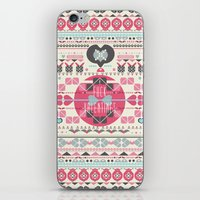 valentines iPhone & iPod Skins featuring Anti Valentines - Fuck Valentines by Tracey Jane Bradley