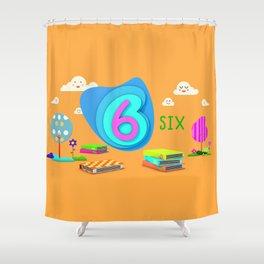 Number six - Kids Art Shower Curtain