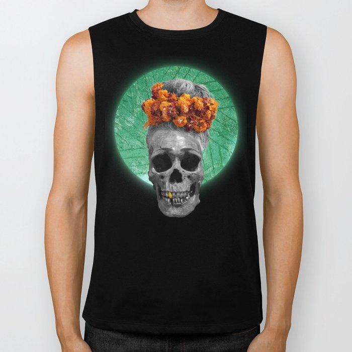 Spiritual Skull Of The Gold Land And The Millstone Biker Tank