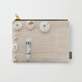Nautical design urchins and seashells Carry-All Pouch