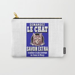 Le Chat Savon Extra French Advertising Poster Carry-All Pouch