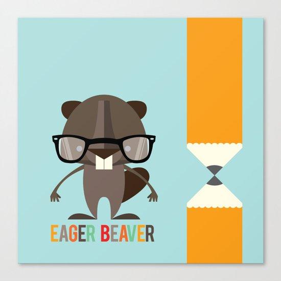 Eager Beaver Canvas Print