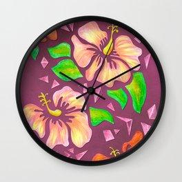 Flor de Maga - Warm Colors Wall Clock