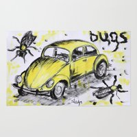 bugs Area & Throw Rugs featuring bugs by sladja