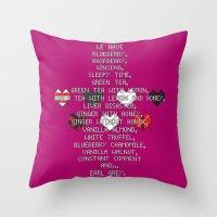 scott pilgrim Throw Pillows featuring Scott Pilgrim vs. The World - Ramona by MacGuffin Designs
