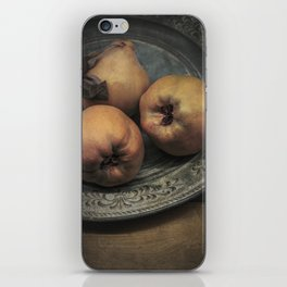Still life with three quinces iPhone Skin