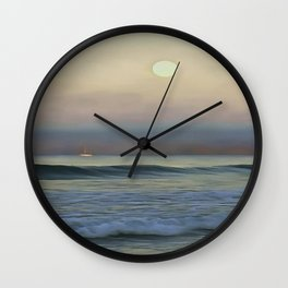 Pale Sunset Wall Clock