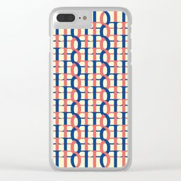 Seamless aesthetic weave / The D Pattern 1 Clear iPhone Case