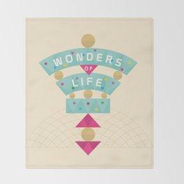 Wonders of Life Throw Blanket
