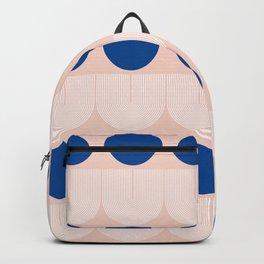 Abstraction_SUN_BLUE_LINE_POP_ART_Minimalism_020A Backpack