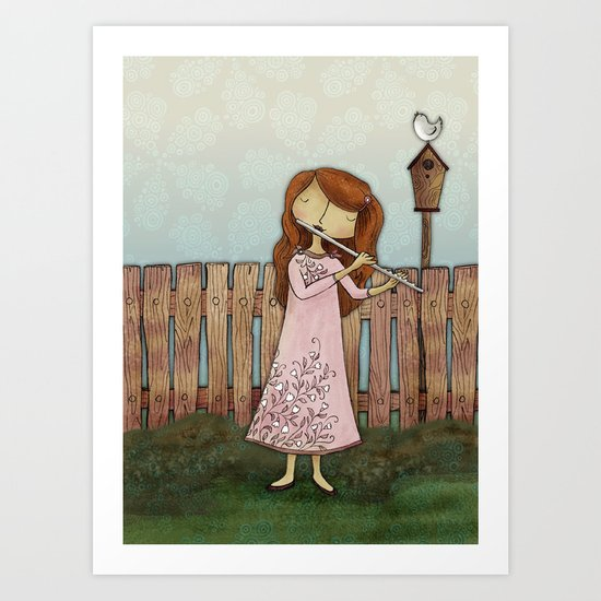 Lucy Plays a Song of a New Birth Art Print