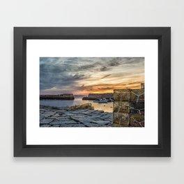 Lobster Trap sunset at lanes cove Framed Art Print