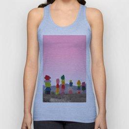 Seven Magic Mountains with Pink Sky - Las Vegas Unisex Tank Top