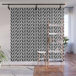 Black XOXO Wall Mural