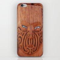 tiki iPhone & iPod Skins featuring Tiki Tiki by leyna.seaton