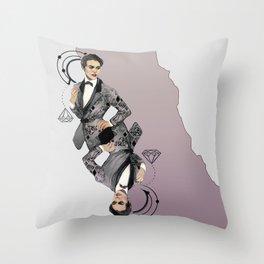 King of Carbon Throw Pillow