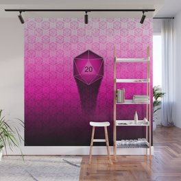 D20 All I Do Is Crit!  Hot Pink Ombre Wall Mural