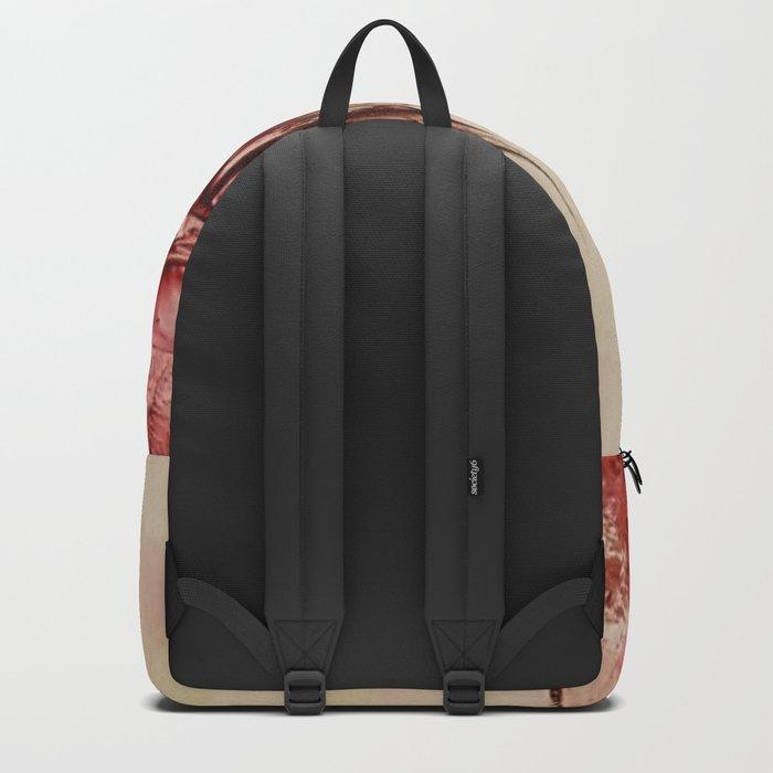 Red Alienlandscape Backpack