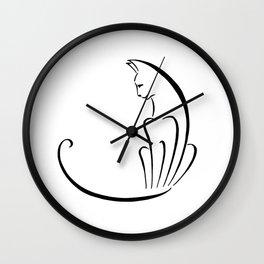 Fan Cat Wall Clock