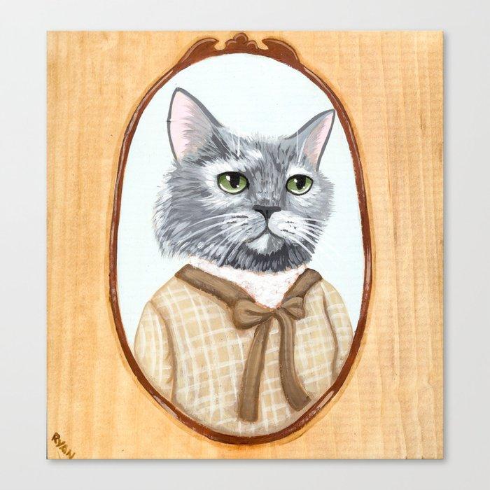 Dahlia Cat Portrait Canvas Print