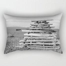 Driftwood Fort Beach Coast Coastal Nautical Seascape Northwest Pacific Ocean Washington Teepee Waves Rectangular Pillow