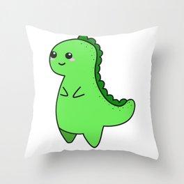 Kawaii Cute T-rex Throw Pillow