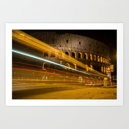 Zooming past the Colosseum Art Print