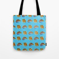 tigers Tote Bags featuring Tigers by Nahal