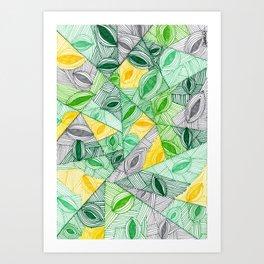Cowrie shells Art Print