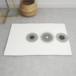 Spiral Growth Patterns of Sunflowers Rug