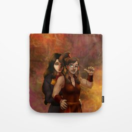 Fire Nation Korra and Asami Tote Bag