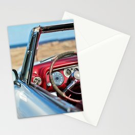 Retro automobile interior Stationery Cards
