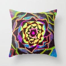 Organic Mandala Throw Pillow
