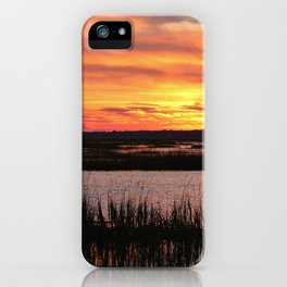 Sky Over The Marsh iPhone Case