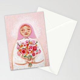 Matryoshka with flowers Stationery Cards