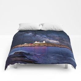 Lighthouse under the Stars Comforters