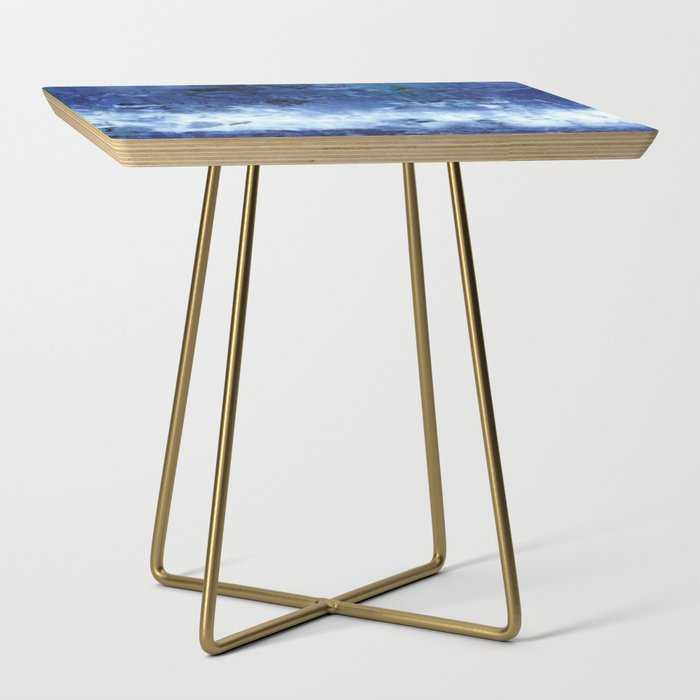 Saltwater Silk Blue Side Table