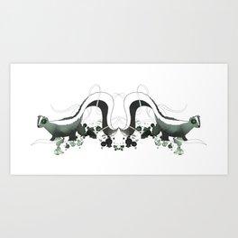 Smelly Skunks Art Print