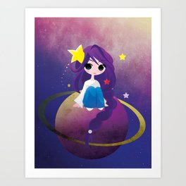 With Drops of Jupiter in her Hair Art Print