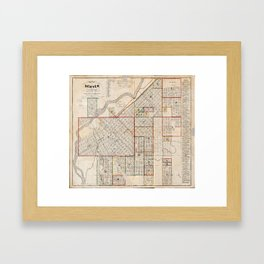 Map of Denver, Colorado (1871) Framed Art Print