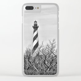 Cape Hatteras Lighthouse (B&W) Clear iPhone Case