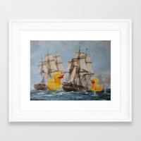 thegnarledbranch Framed Art Prints featuring Terror on the High Seas III by TheGnarledBranch