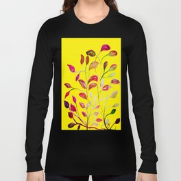 Red and Green Leaves! Yellow Sunshine! Long Sleeve T-shirt