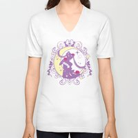 sailormoon V-neck T-shirts featuring Sailor Moon Crystal Design 1 by Shouho
