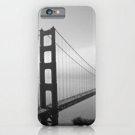 The Golden Gate Bridge In A Mist iPhone Case