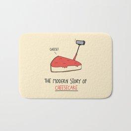 The Modern Story of Cheesecake Bath Mat