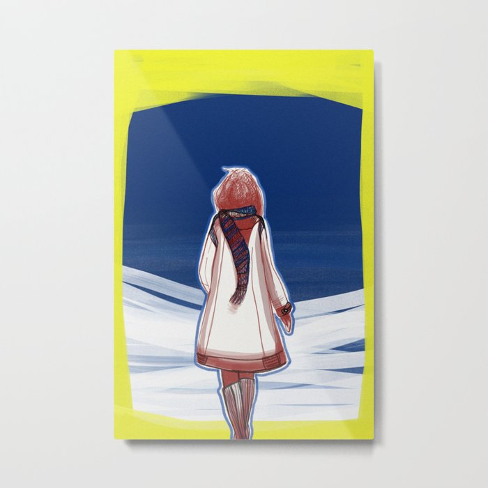 I turn my back to Winter Metal Print